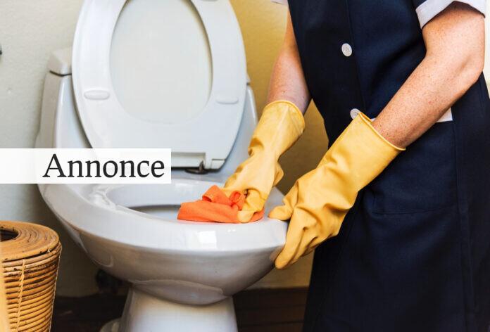 Rengøring af toilet
